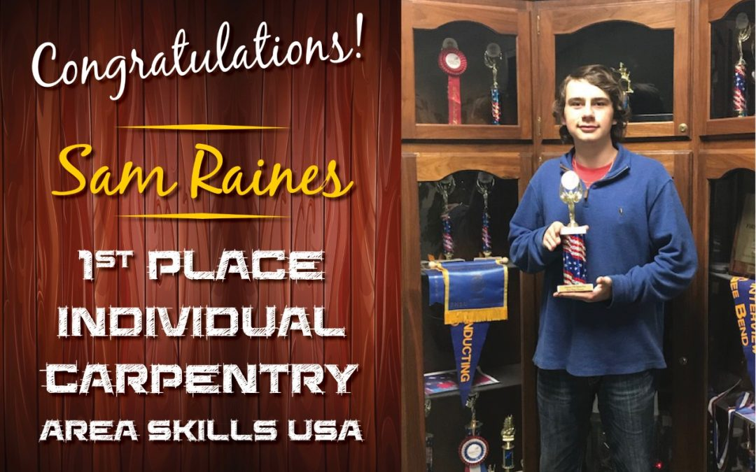 LHS student receives 1st place at Area SKILLS USA