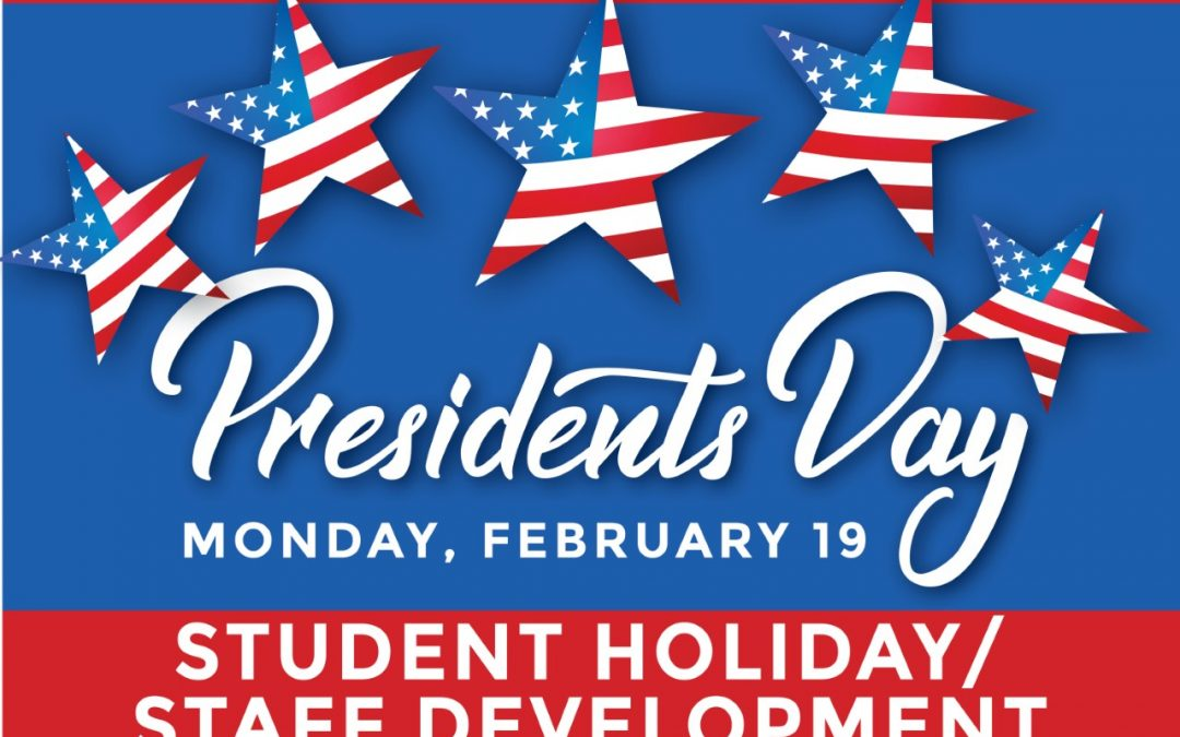 Monday is a student holiday/staff development day