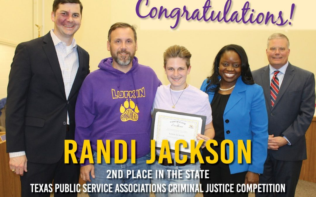 LHS student second in STATE in criminal justice competition