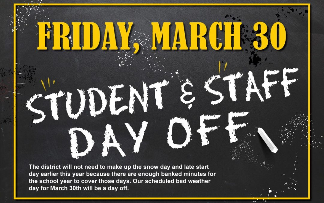 Student & Staff Day Off on Friday