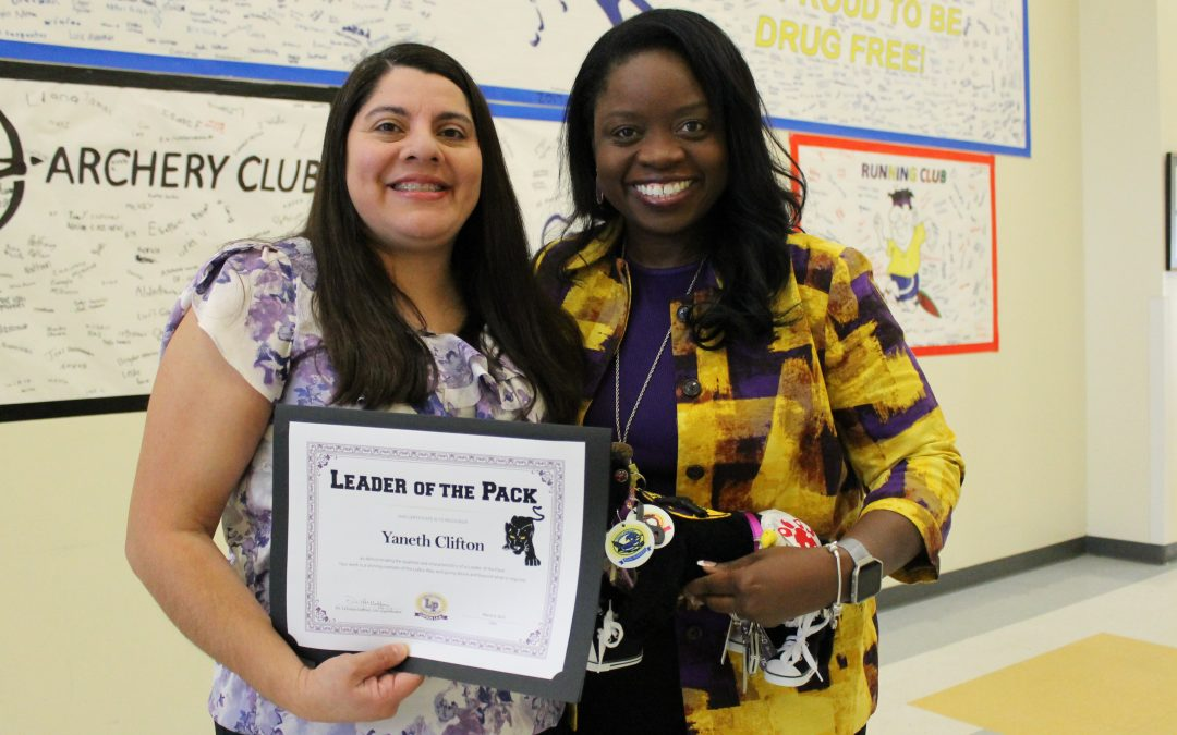 Congratulations Leader of the Pack: Yaneth Clifton