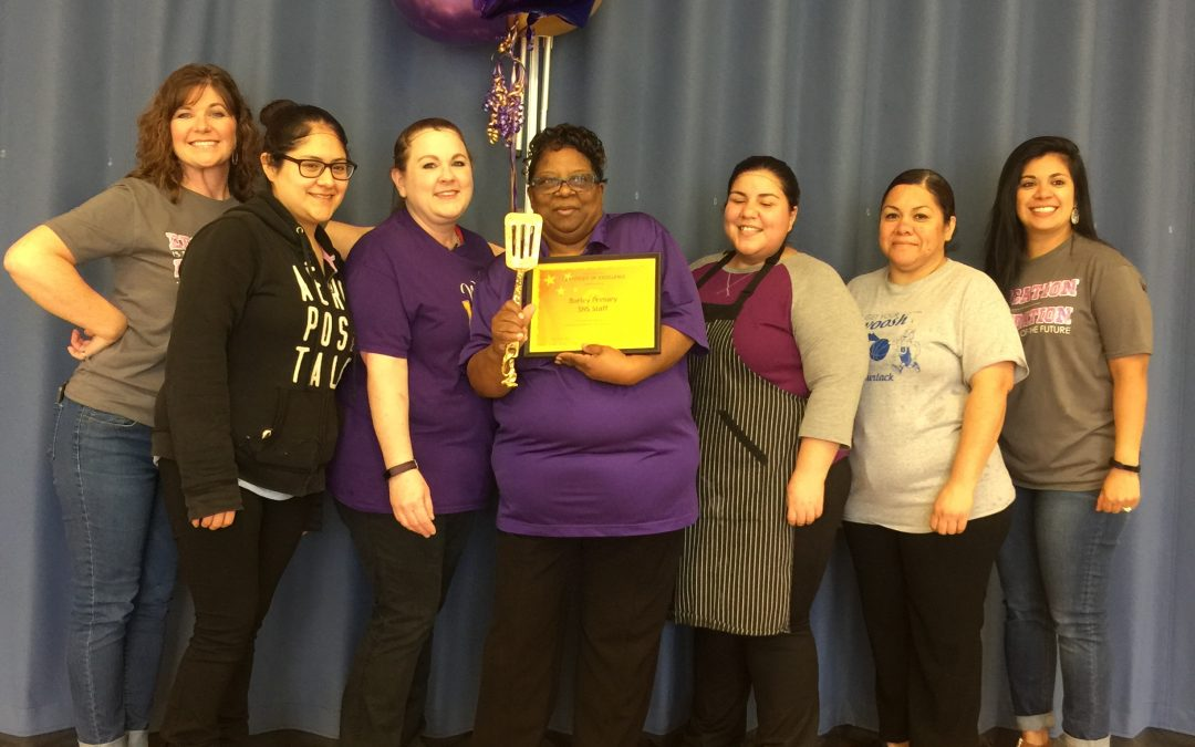 Burley Primary SNS Staff receive the Golden Spatula award