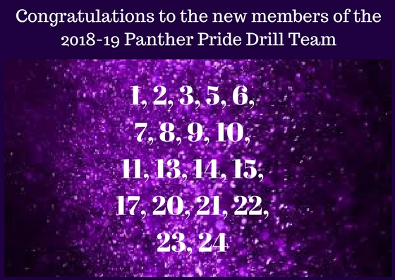 Congratulations to the 2018-19 Panther Pride line and officers!