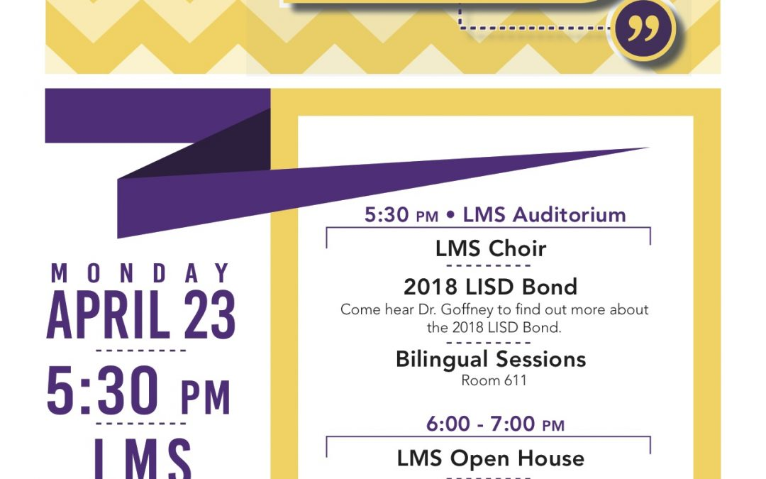 Panther Community Forum & LMS Open House Tonight!