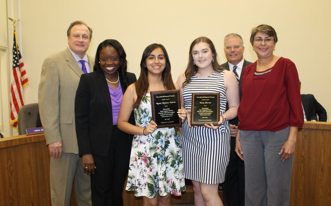 Outstanding Dual Language Student Awards presented at board meeting