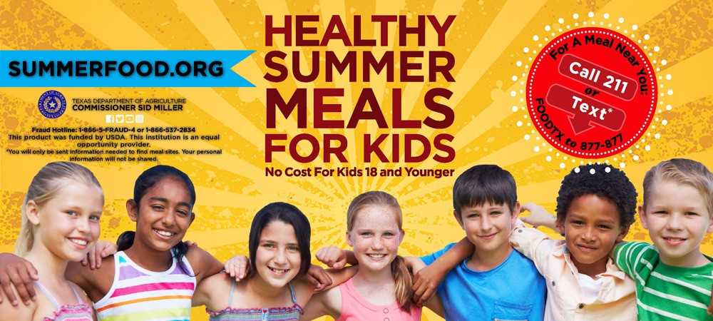 Healthy summer meals for kids available at many locations!