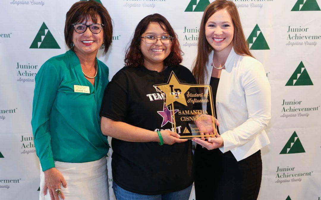 Junior Achievement recognizes student, teacher at Golden Star Breakfast