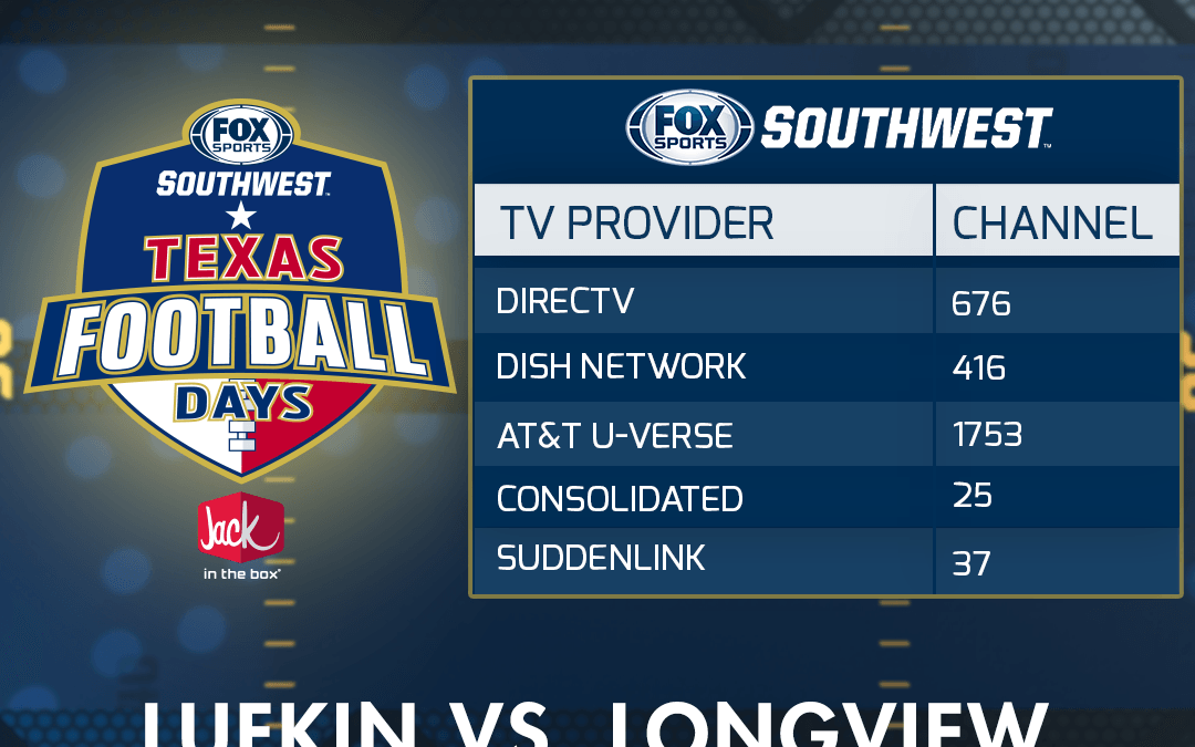 Lufkin vs. Longview football game will be televised