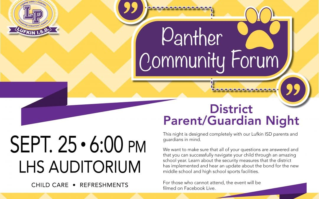 Save the Date: Panther Community Forum on September 25th
