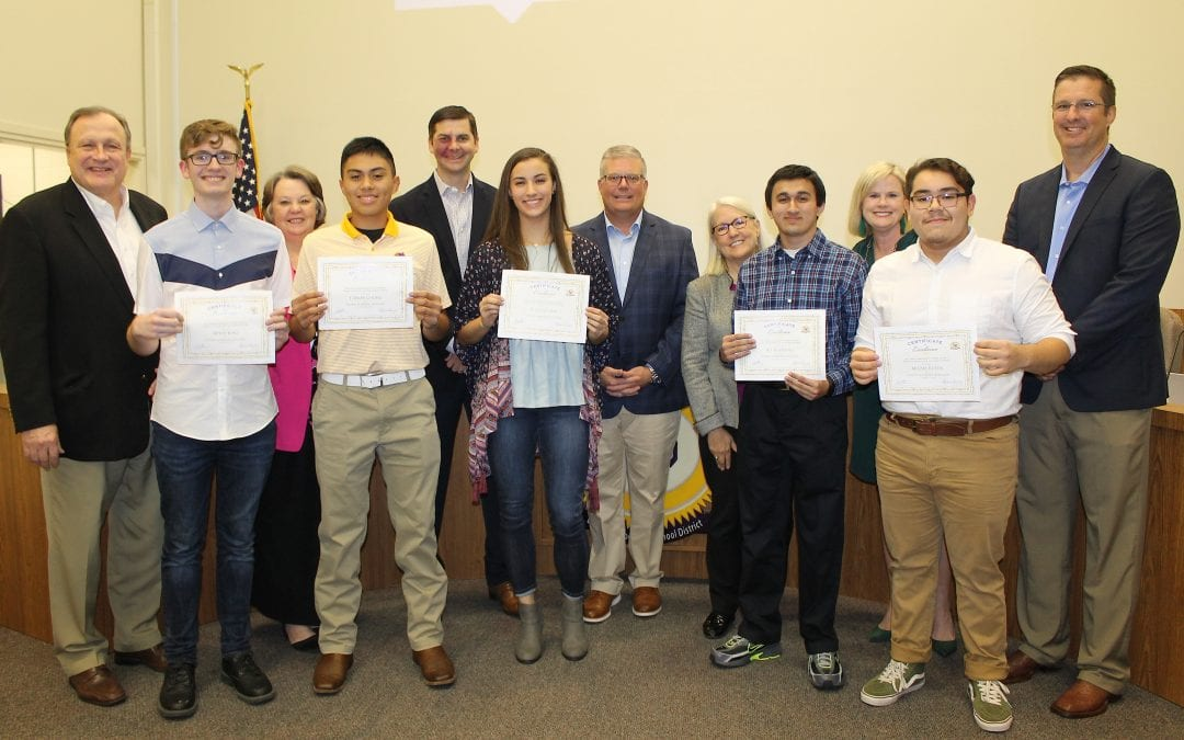 Student Successes and District Superior Financial Rating announced at board meeting