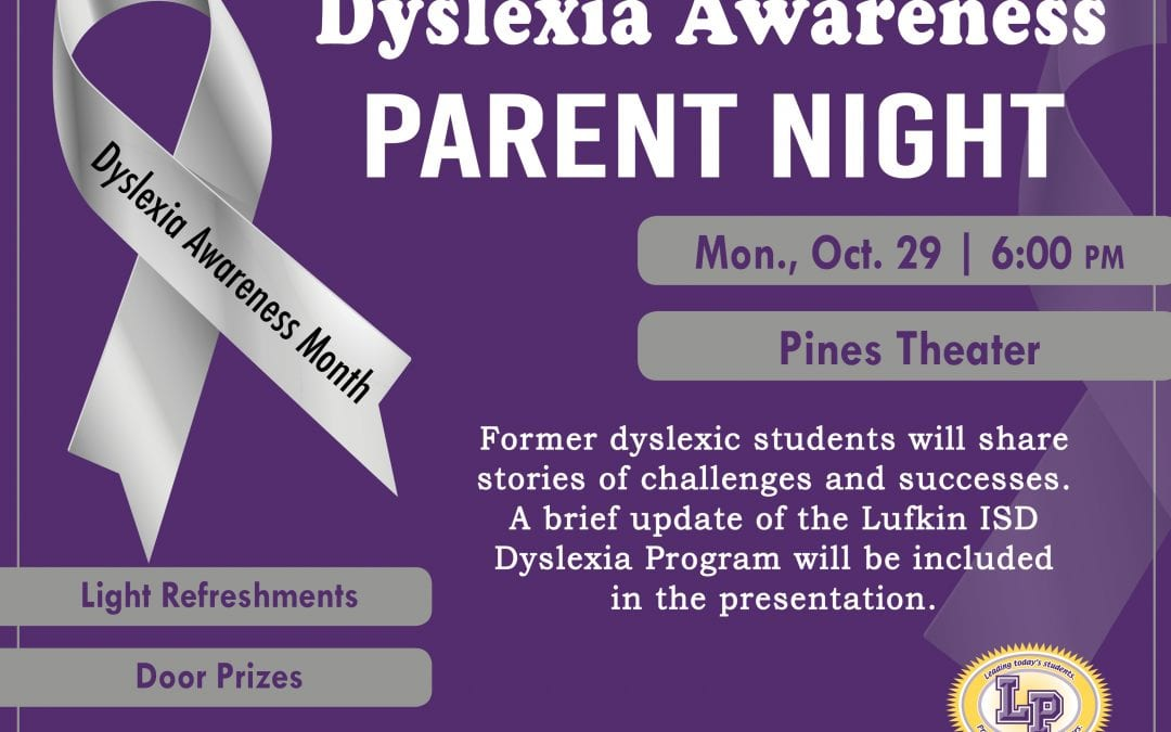 Parent meeting for information on dyslexia