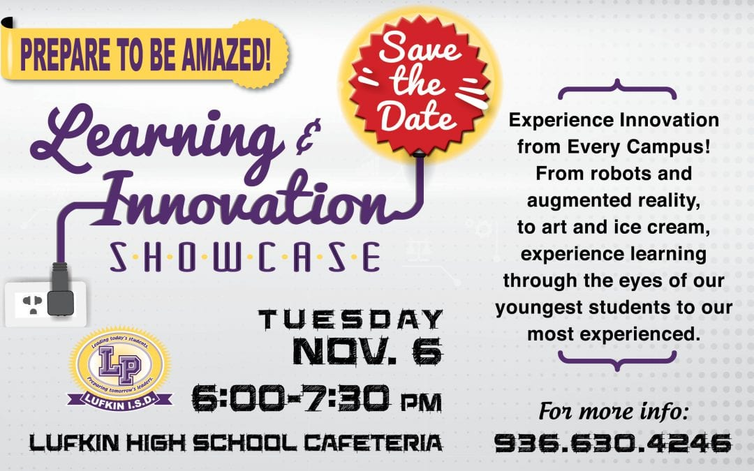 SAVE THE DATE: Learning & Innovation Showcase November 6th!