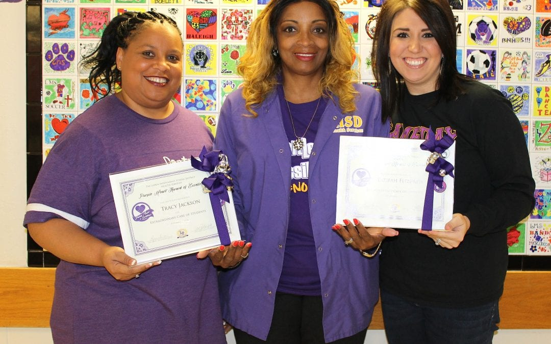 LMS nurses awarded Purple Heart of Excellence award