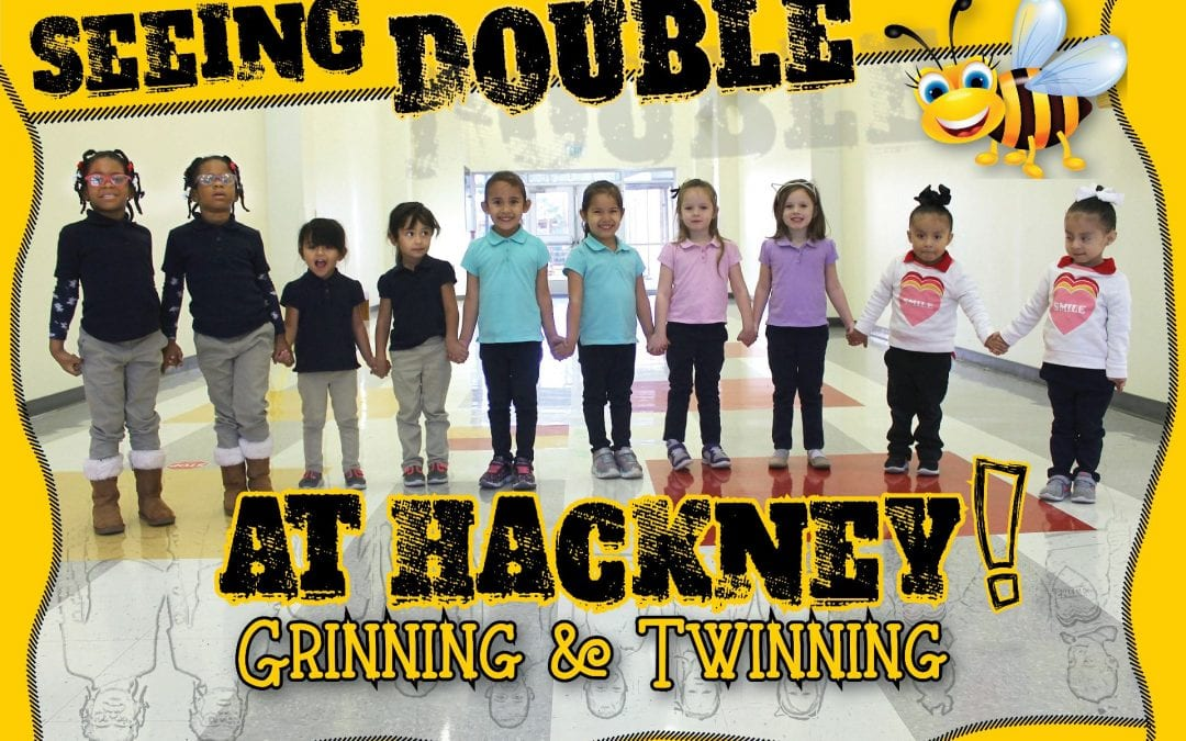 Double the fun! Hackney Primary has five sets of identical female twins