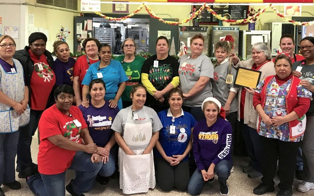Golden Spatula Winner of the month is Lufkin Middle School