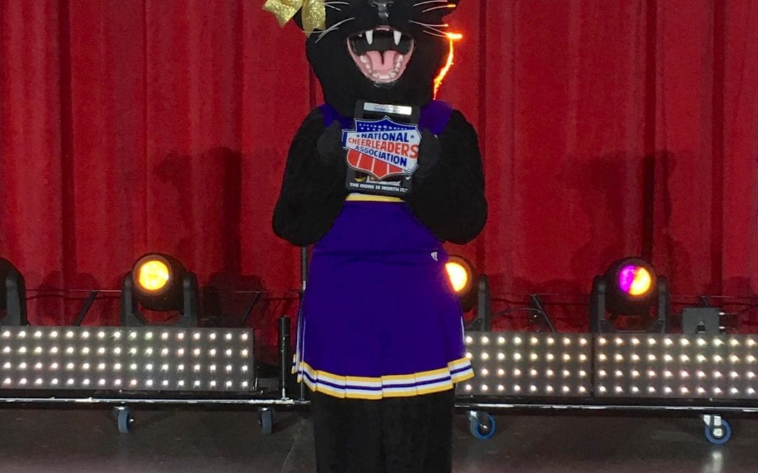"""Prissy the Panther"" placed 3rd at NCA Mascot Championship"