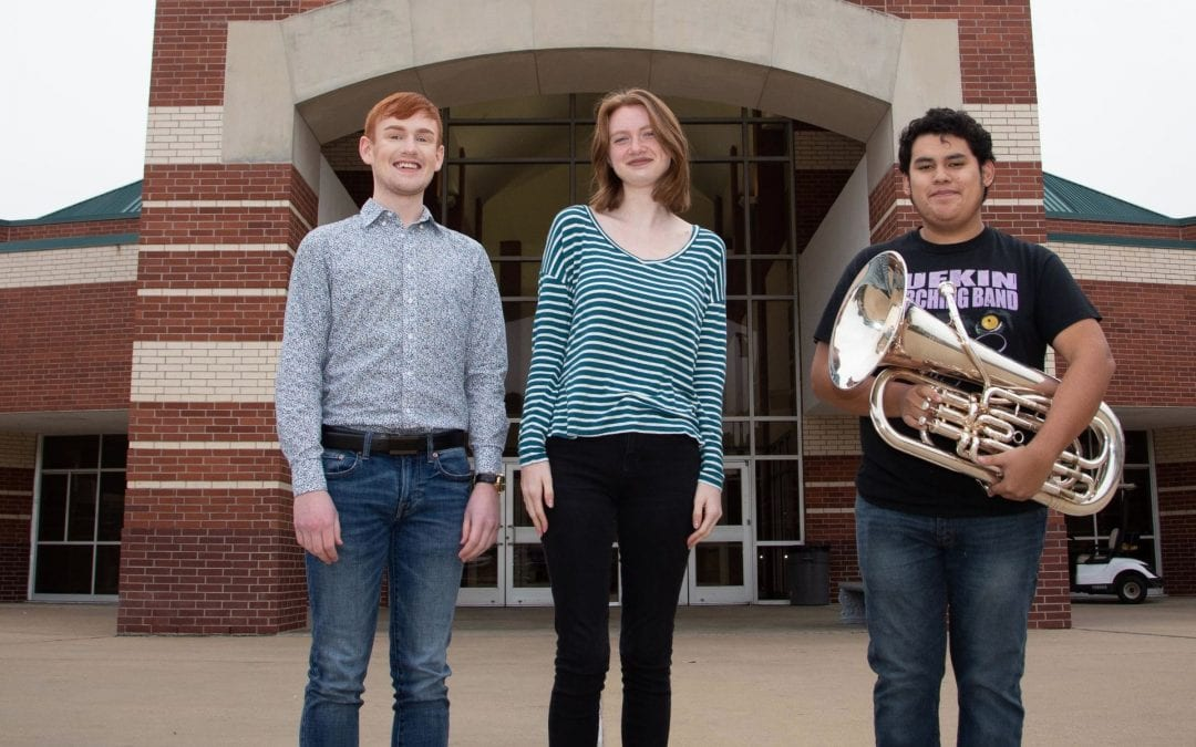 Three LHS student musicians head to All-State performance