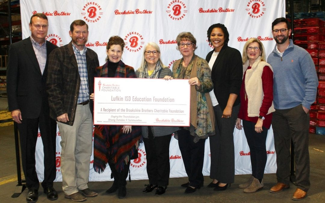 Education Foundation receives check from Brookshire Brothers Charitable Foundation