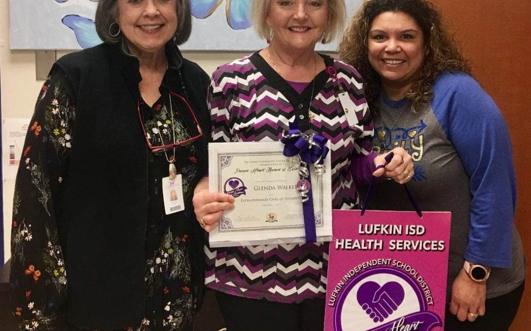 Nurse Walker receives Purple Heart of Excellence Award for February