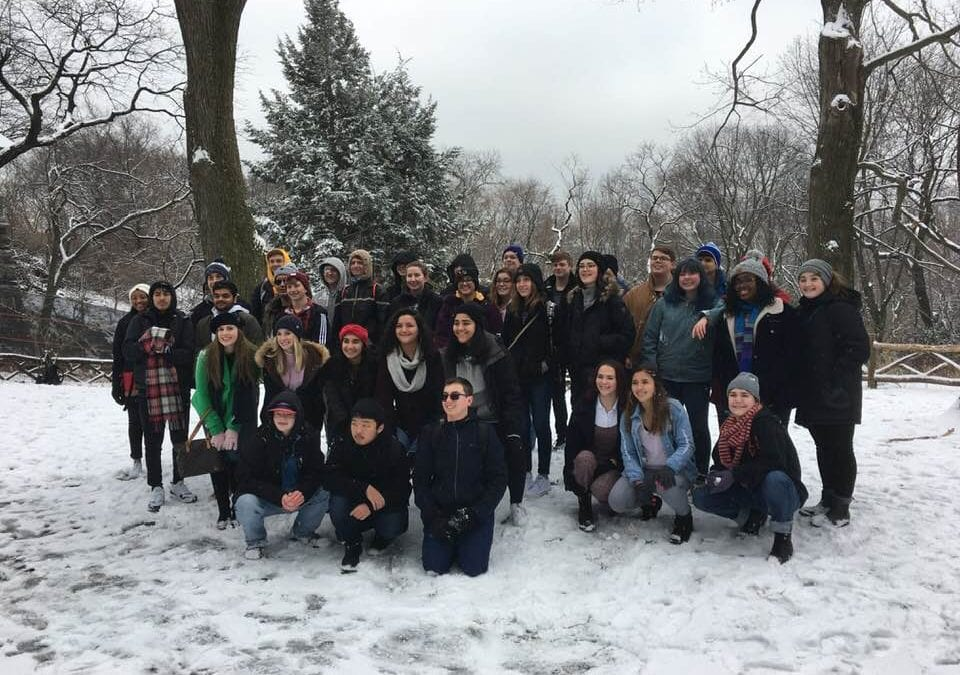 Snow in Central Park: Mrs. Torres reflects on NYC GT Trip