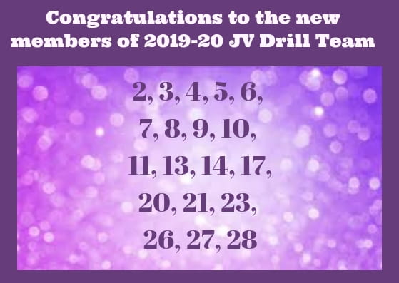 Here are the results of the LHS JV Drill tryouts …