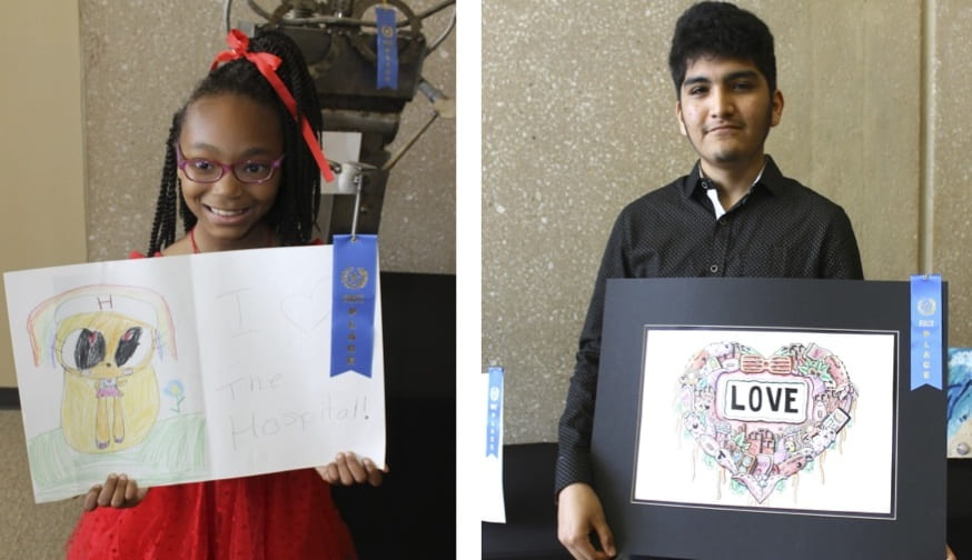 Students put heart in their art for WHMC art contest