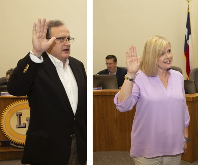 Board members sworn in and student excellence celebrated at May board meeting