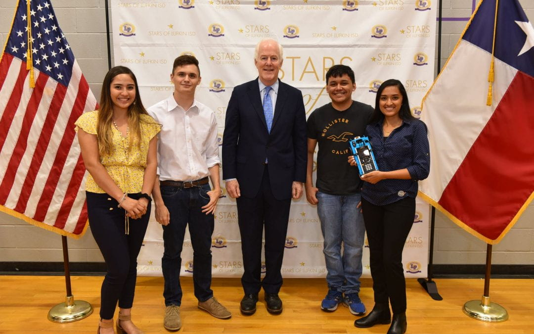 U.S. Senator Cornyn visits LHS for update on GEAR UP program progress