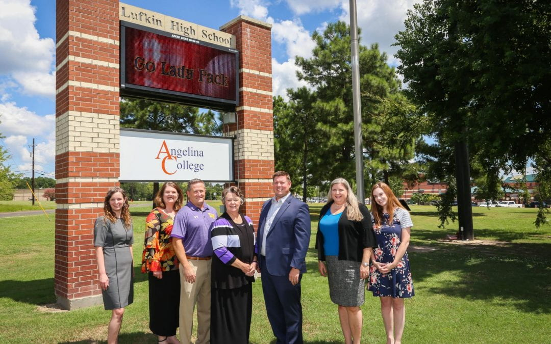 New Angelina College Sign on Lufkin High School Campus