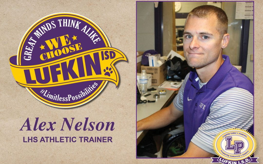 Athletic Trainer Alex Nelson Chooses Lufkin ISD