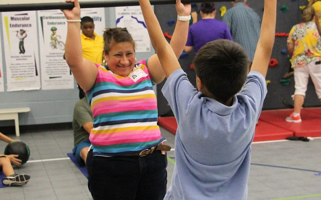 'Take your loved one to PE' week at Anderson Elementary