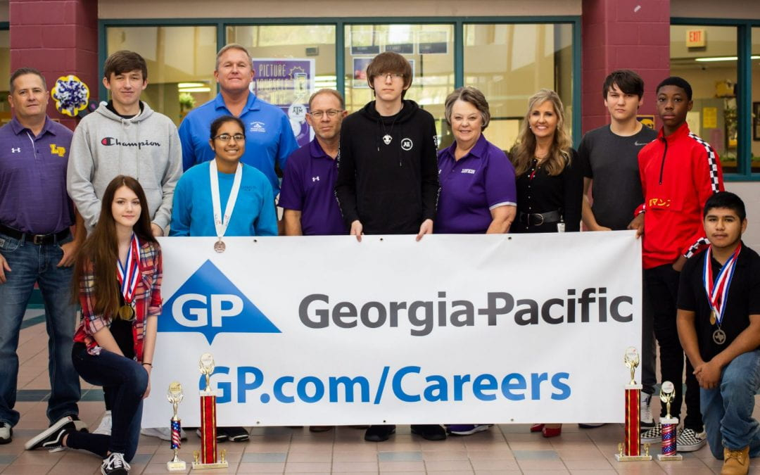 Georgia-Pacific presents check to LHS CTE Department