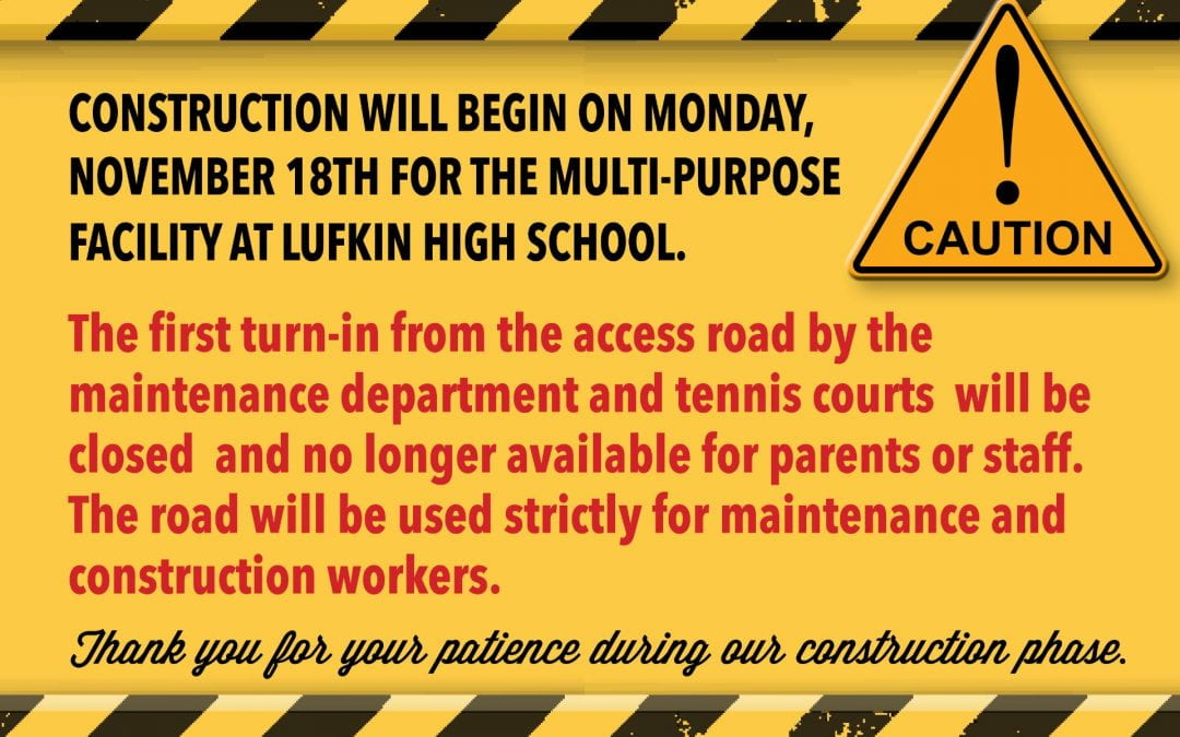 Construction to begin at LHS on Monday