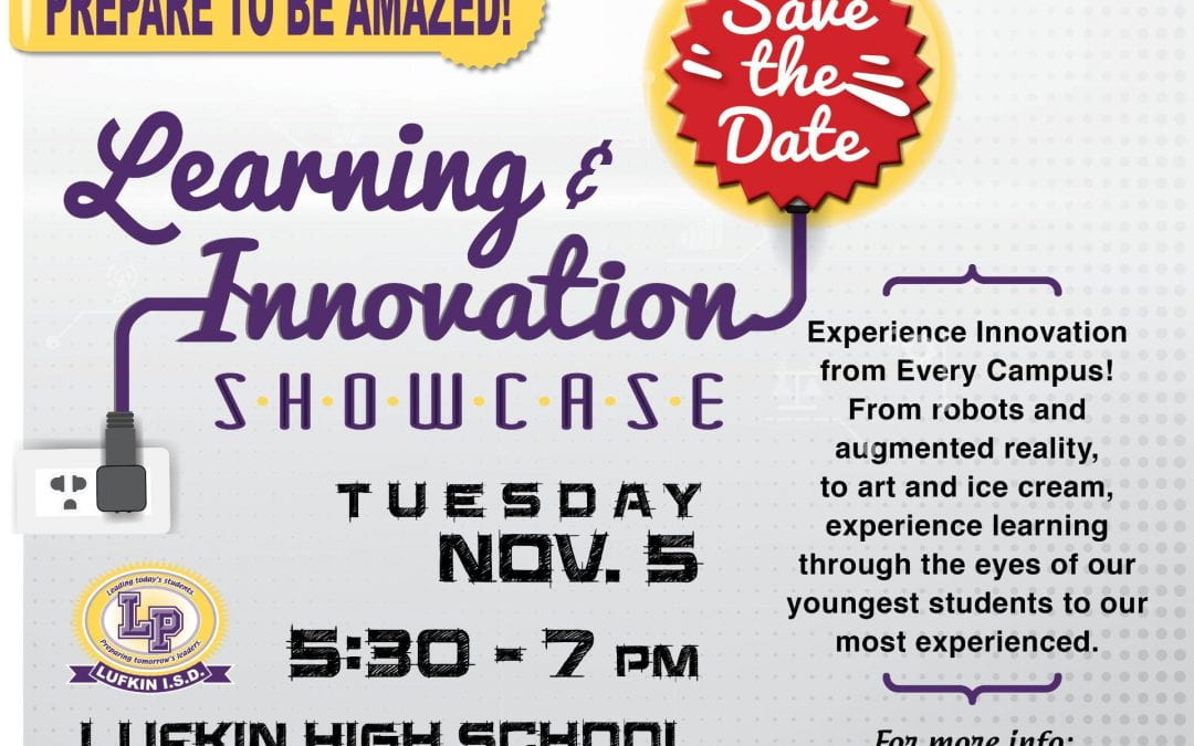 Come to the Learning & Innovation Showcase Tuesday Night