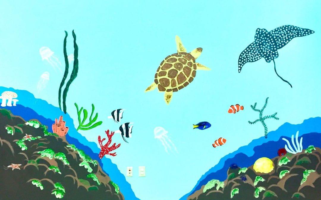 LHS students create ocean-themed mural for WHMC Rehabilitation Center