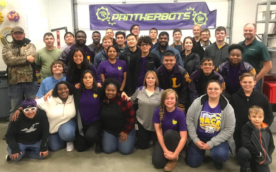 Pantherbots thank Lockheed Martin with reception, tours, and presentations