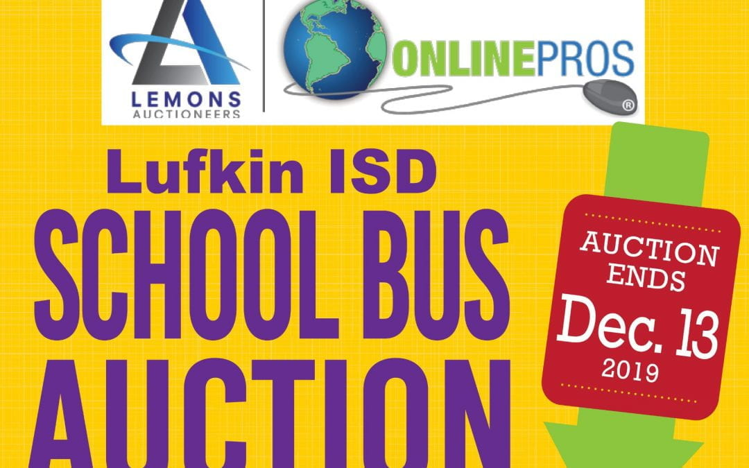 Lufkin ISD School Bus Auction beginning Wednesday