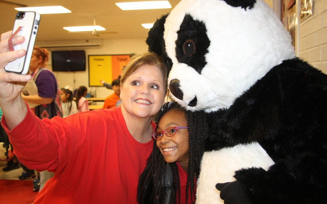 Panda Express teaches Coston 3rd graders about chopsticks, chow mein, and Chinese New Year