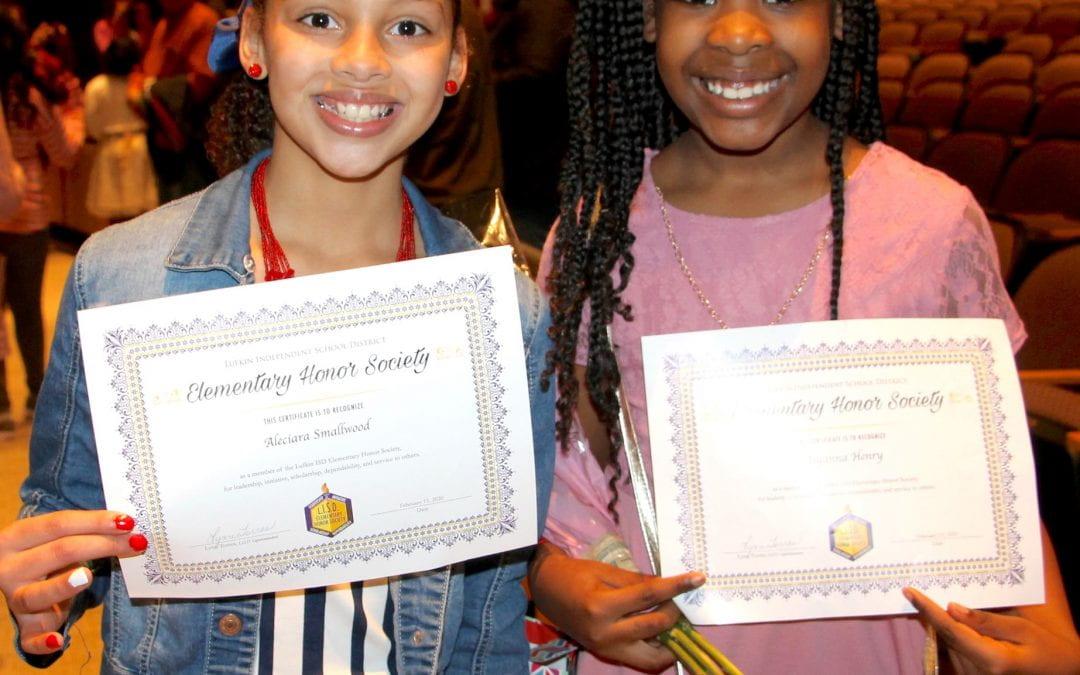 Elementary Honor Society (photos)