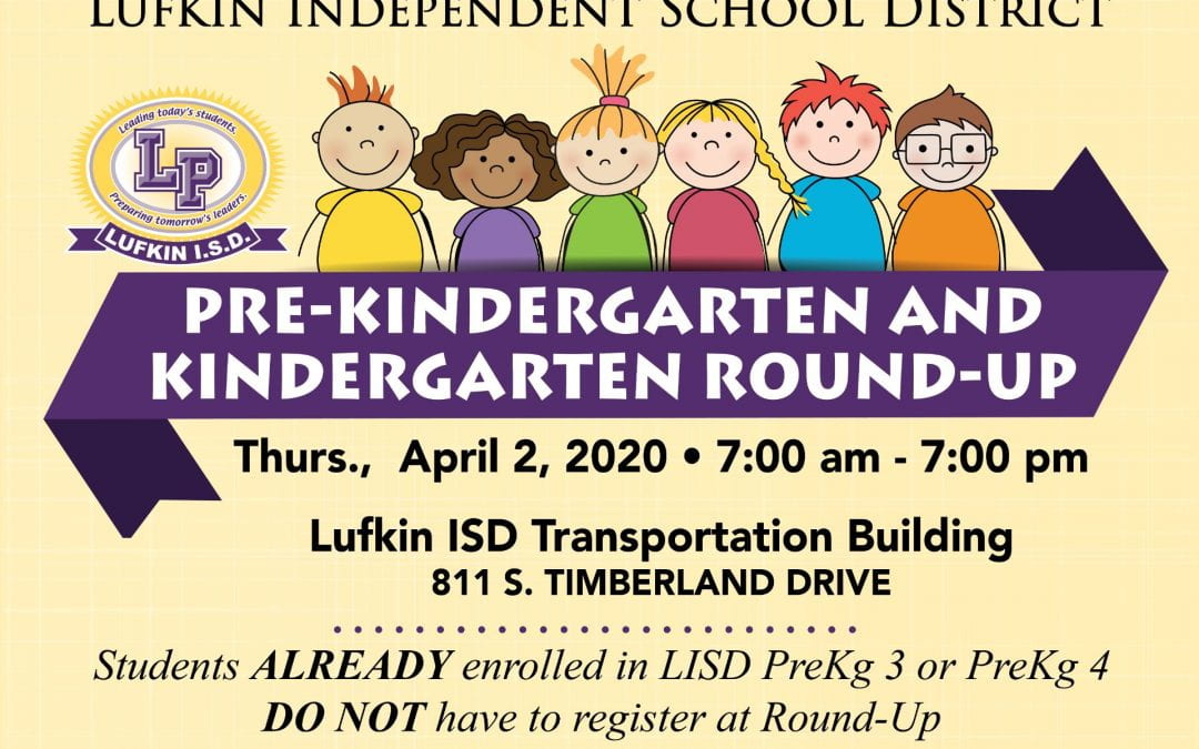 Round up the Pre-Kinder and Kindergarteners for 2020-2021 school year!