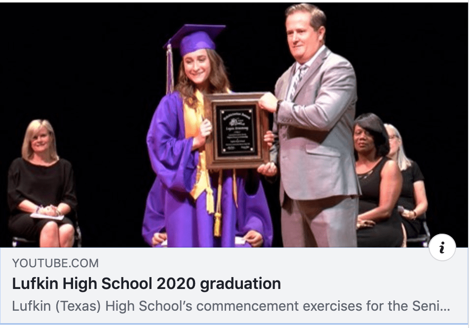 Lufkin High School commencement exercises for the Class of 2020 video