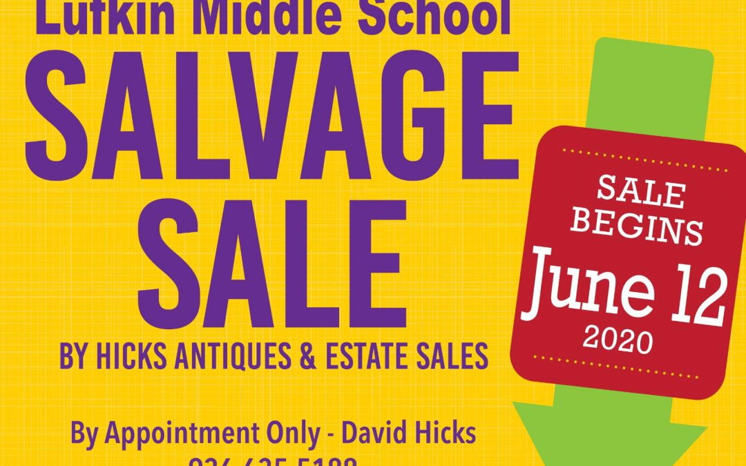 Lufkin Middle School Salvage Sale begins on June 12th
