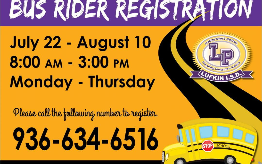 Sign up for bus registration by phone this year