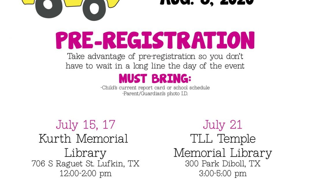 Register for Back to School Bonanza!
