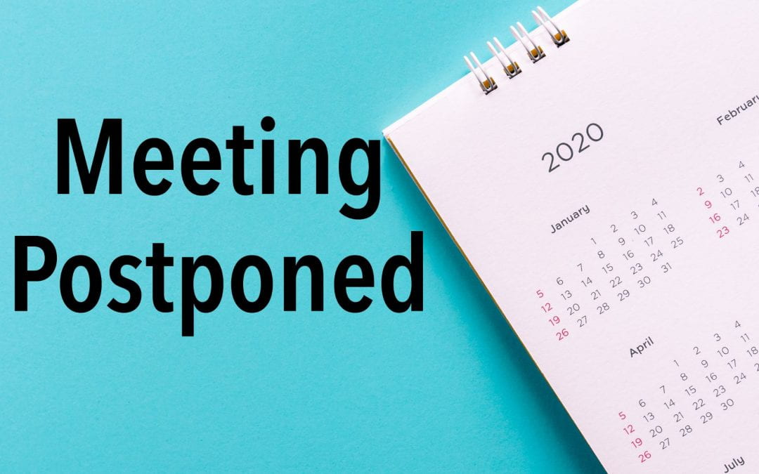 Public hearing postponed due to projected inclement weather