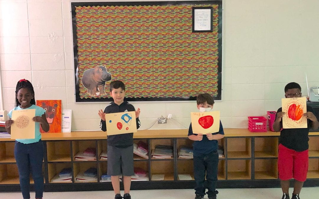 """Trout Primary students """"make their own mark"""" for International Dot Day"""