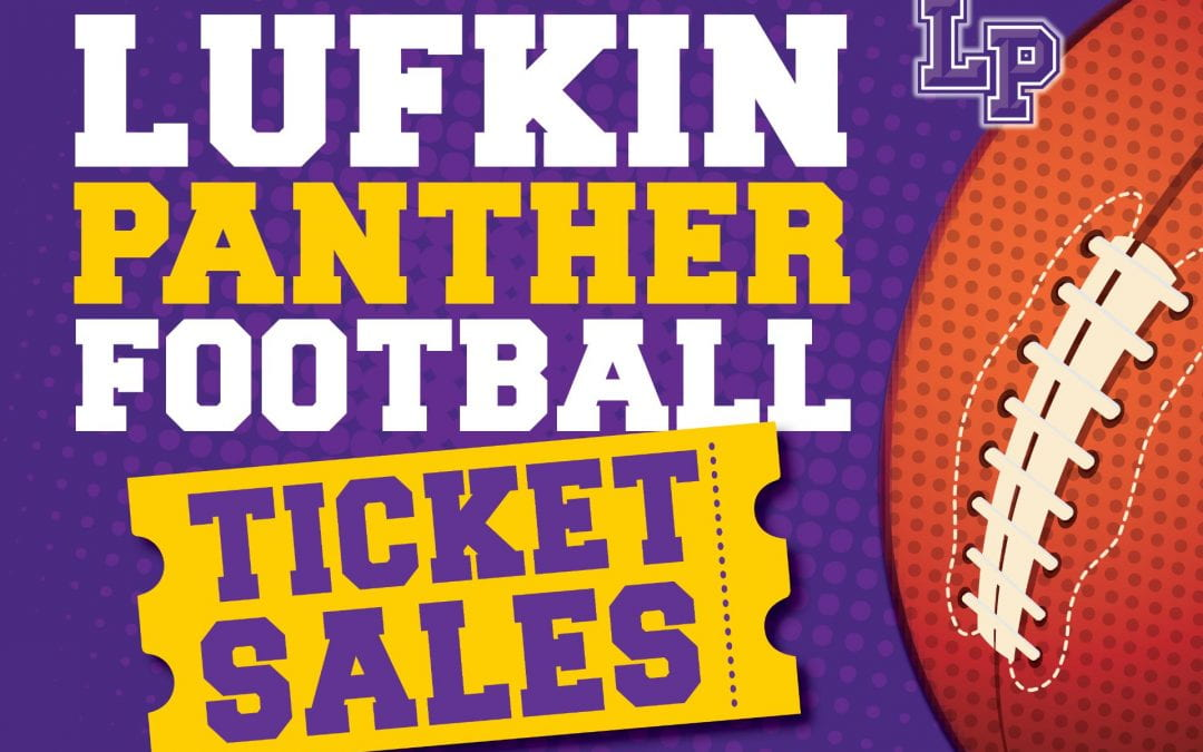 Tickets to the Friday night Panther football game will be available online Wednesday