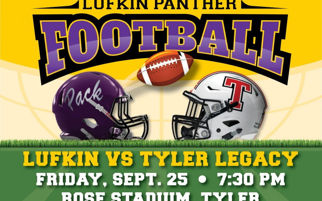 Lufkin Panther Football Tonight!!