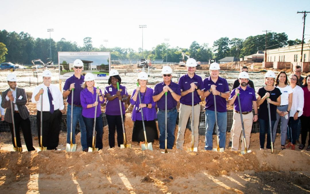 Groundbreaking takes place at Lufkin Middle School and LHS Athletic Complex