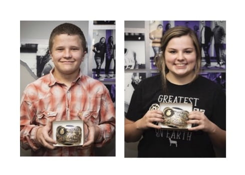 Belt buckle awarded to top FFA students in fundraiser sales